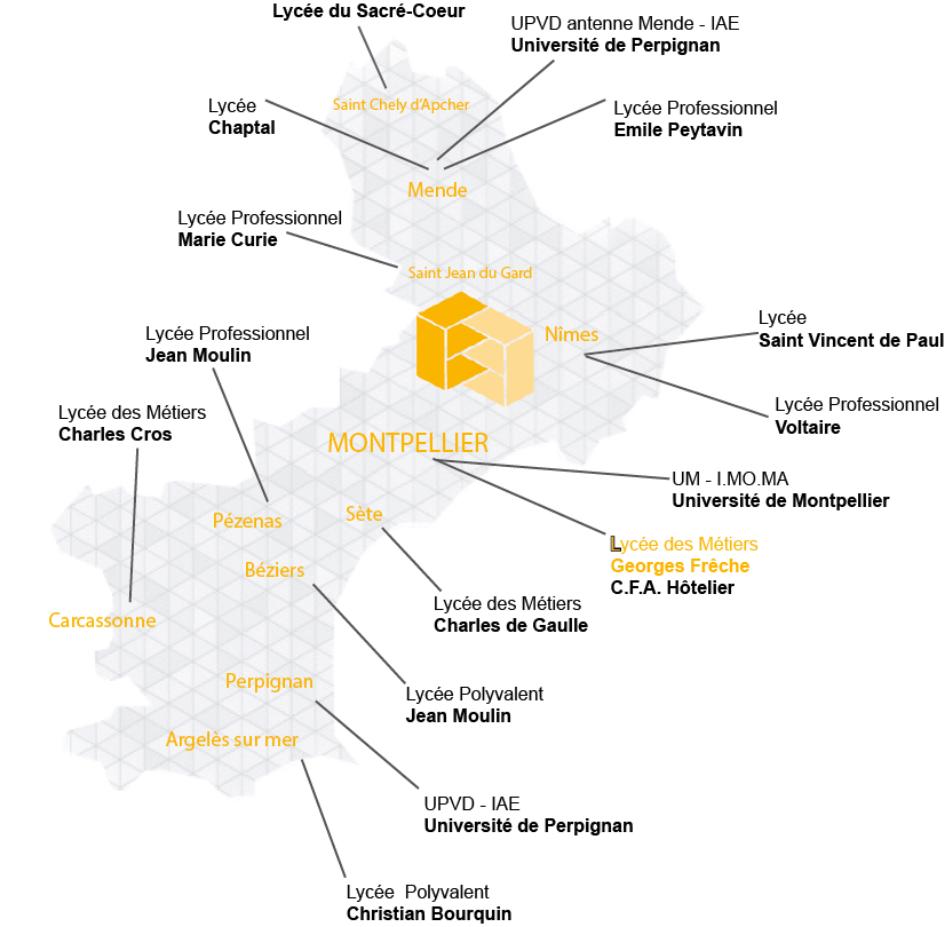 Carte des établissements de formation